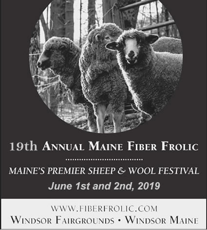 The 19th Annual Maine Fiber Frolic June 1-2, 2019